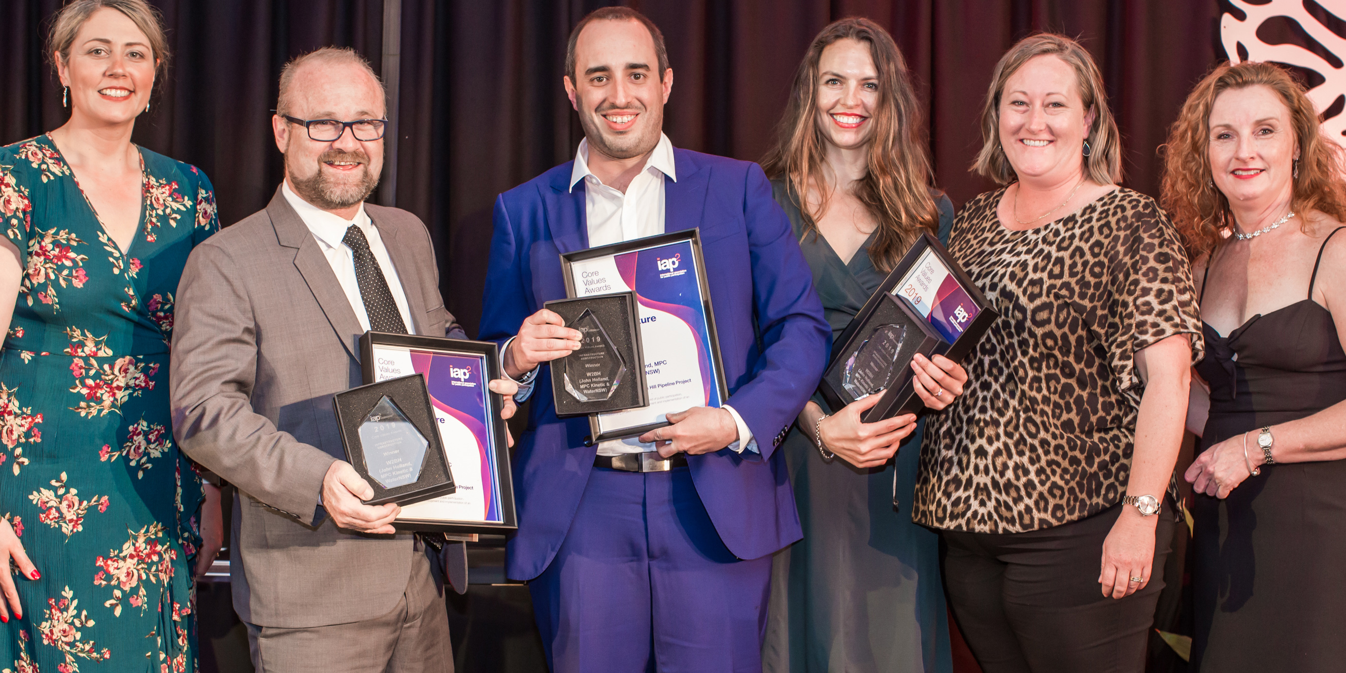 Wentworth to Broken Hill Pipeline Project team accepting award